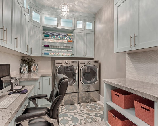all-time favorite l-shaped laundry room with beaded inset cabinets