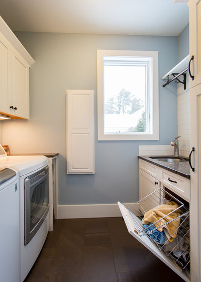 Beach Style Laundry Room by Marty Rhein, CKD, CBD - BAC Design Group
