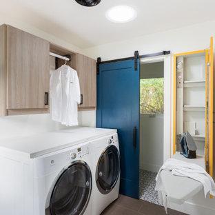 Danish laundry room photo in Los Angeles