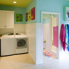 eclectic laundry room by J.Banks Design Group