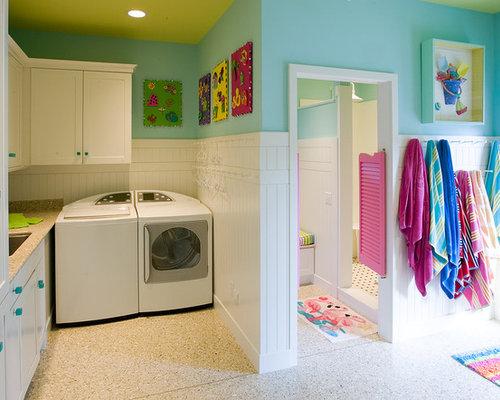 eklektischer hauswirtschaftsraum ideen f r waschk che haushaltsraum. Black Bedroom Furniture Sets. Home Design Ideas