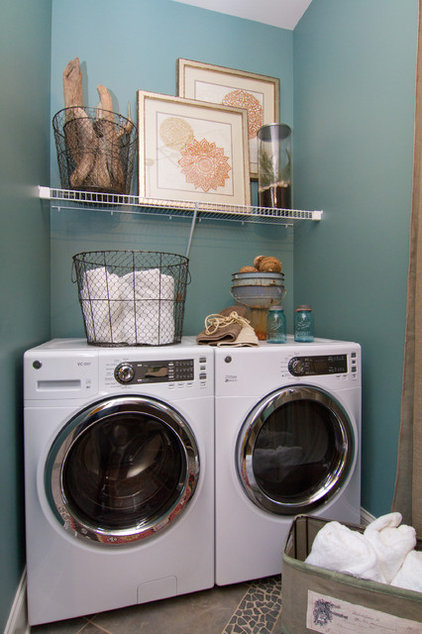 Eclectic Laundry Room by Leslie Lewis & Associates