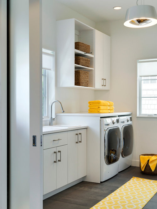 Our 25 Best Midcentury Laundry Room with Porcelain Floors Ideas & Decoration Pictures | Houzz