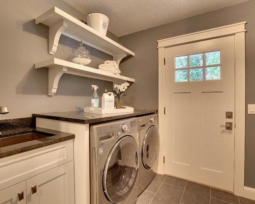 arts and crafts folding shelves laundry room design ideas. Black Bedroom Furniture Sets. Home Design Ideas