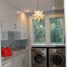 Transitional Laundry Room by Elite Homes, Inc.