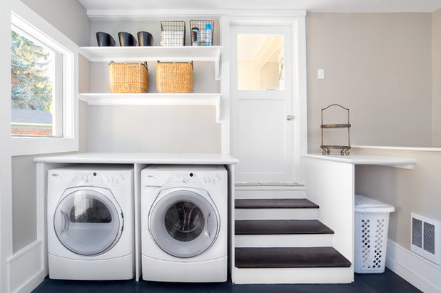 Transitional Laundry Room by Renaissance Remodeling