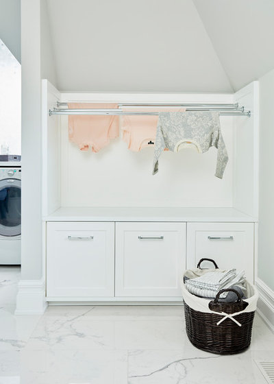 Transitional Laundry Room by Shirley Meisels