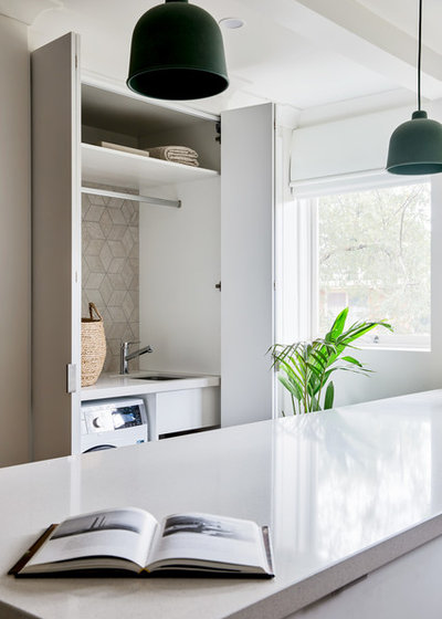 Contemporary Laundry Room by Jasmine McClelland Design