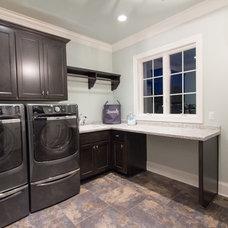 Transitional Laundry Room by Rautmann Custom Homes