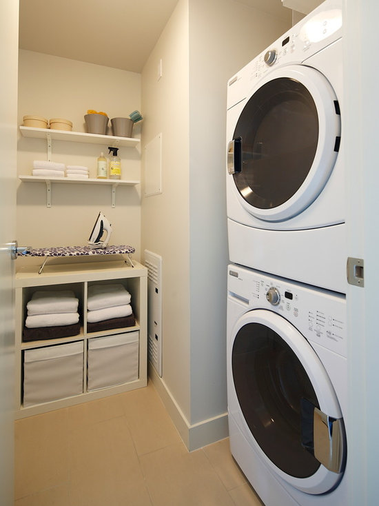 Laundry Room Ideas Stacked Washer Dryer stacked washer dryer   houzz