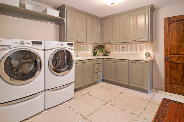 Traditional Laundry Room by Modern Design Cabinetry