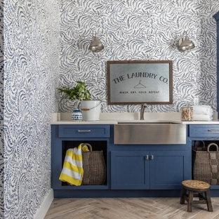 Laundry room - coastal laundry room idea in Jacksonville