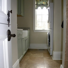 Traditional Laundry Room by David Semerjian Builders