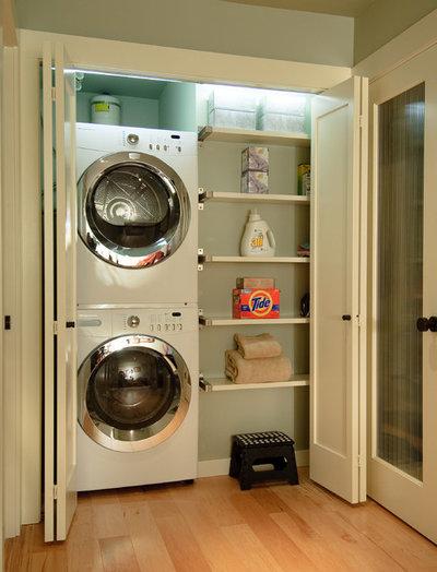 Transitional Laundry Room by Midori Yoshikawa Design Group