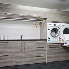 Contemporary Laundry Room Ezy Kitchens showroom Invercargill