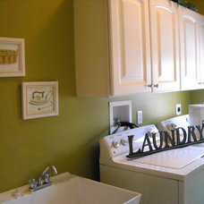 Contemporary Laundry Room by Nancy Auman
