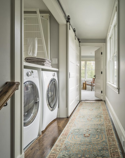 Farmhouse Laundry Room by Adams + Beasley Associates