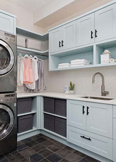 Farmhouse Laundry Room by Soda Pop Design Inc.