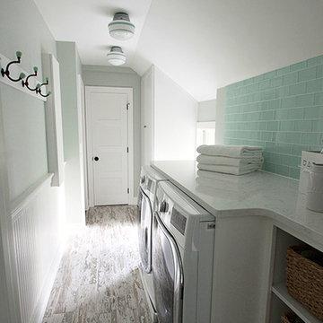 Farmhouse Laundry Room in Barrington Hills