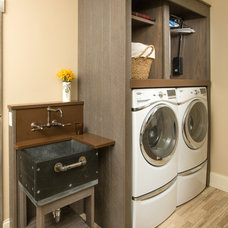 Farmhouse Laundry Room by Westwood Cabinetry and Millwork