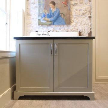 Farmhouse Sink Base Cabinet with Valance Toe Kick
