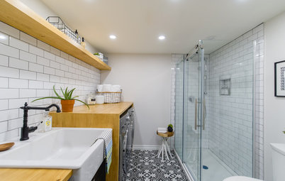 A Bathroom and Laundry Room in 85 Square Feet