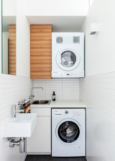 Contemporary Laundry Room by anderson architecture