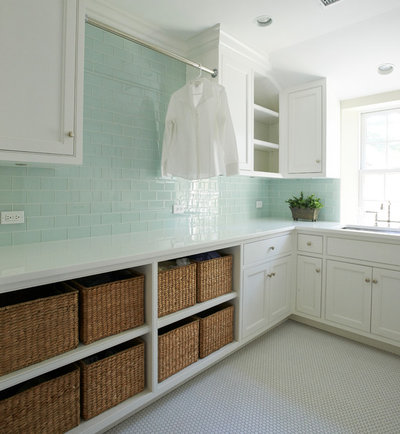 Farmhouse Laundry Room by Brooks and Falotico Associates, Inc.