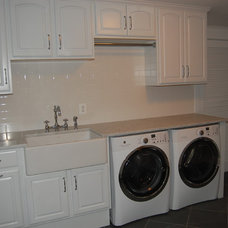 Traditional Laundry Room Finished Basement Laundry Room