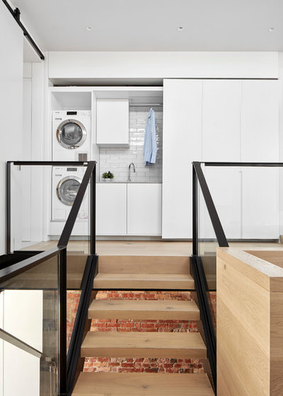 Contemporary Laundry Room by MMAD Architecture