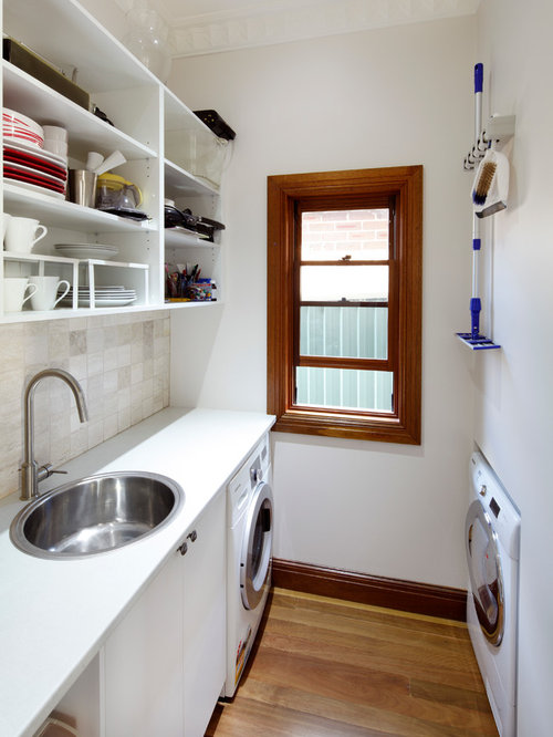 This Is An Example Of A Small Traditional Galley Utility Room In Sydney  With A Drop Part 90