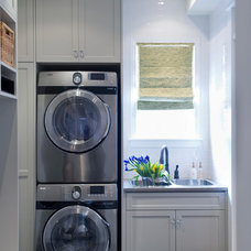Transitional Laundry Room by LemonTree & Co. Interiors