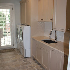 traditional laundry room by Benjamin Alan Homes