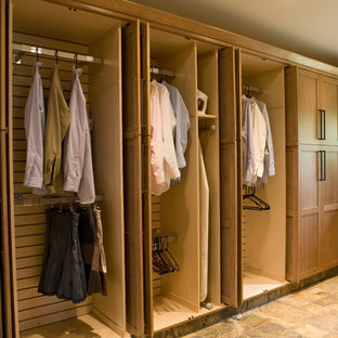 Inspiration for a large craftsman laundry room remodel in New York