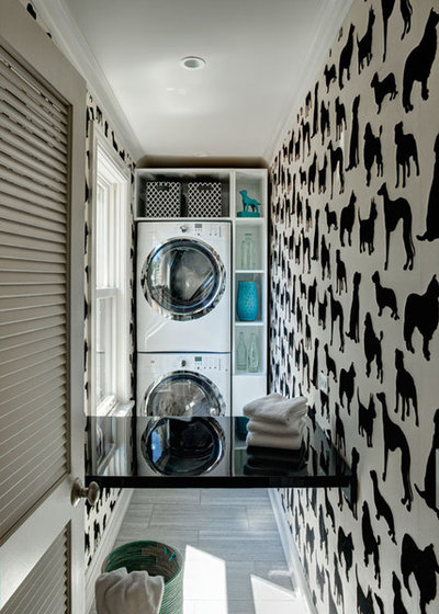 Eclectic Utility Room by SPACE Architects + Planners