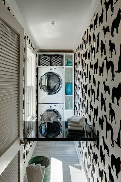 eclectic laundry room by SPACE Architects + Planners