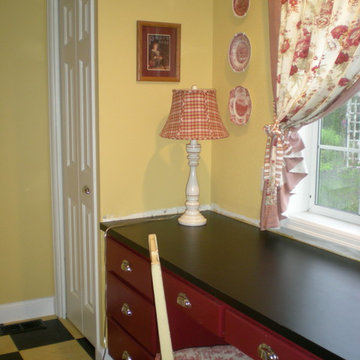 French Country Laundry/Mud Room Yellow/Red Toile