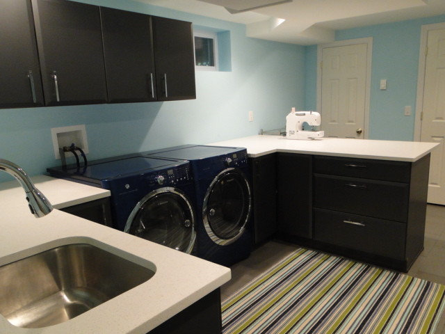 Contemporary Laundry Room by Richmond Hill Interiors, llc