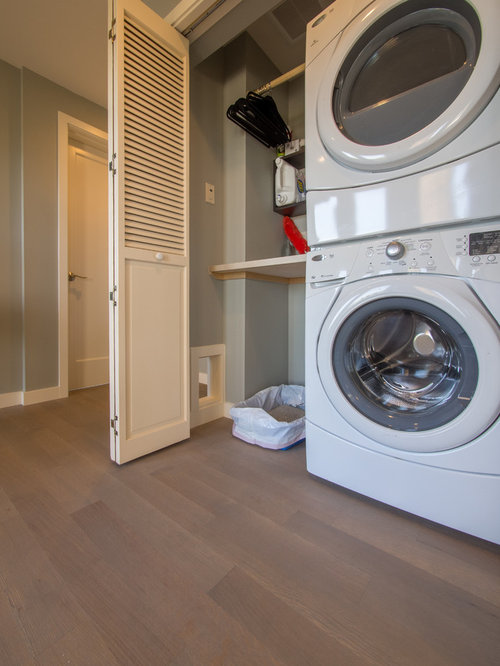 Best Small Laundry Closet with Blue Walls Design Ideas u0026 Remodel Pictures : Houzz