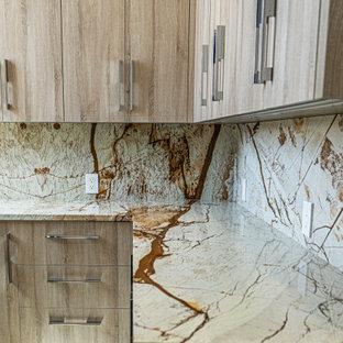 Idéer för en tvättstuga, med granitbänkskiva