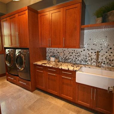 Backsplash Laundry Room Design Ideas, Pictures, Remodel and Decor