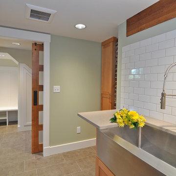 Functional Basement Laundry Room