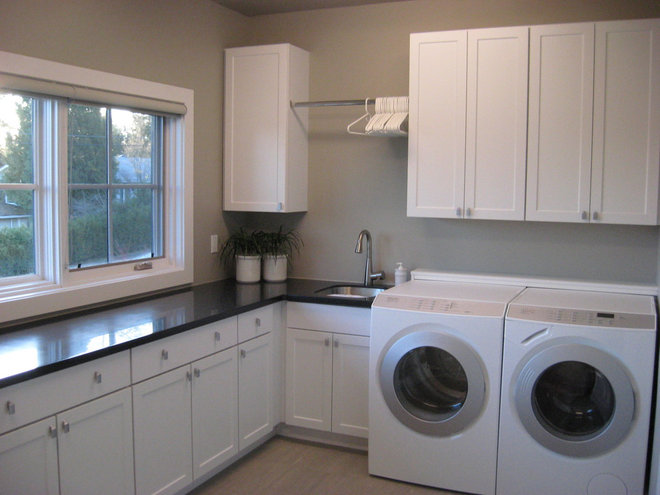Contemporary Laundry Room by Organized Spaces