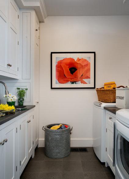 Farmhouse Laundry Room by Crisp Architects