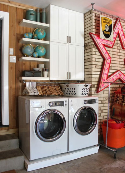 Eclectic Utility Room by The Cavender Diary