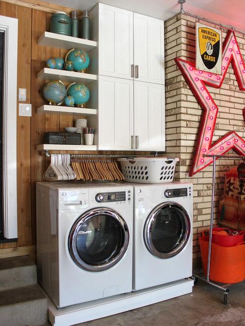 Eclectic Laundry Room Idea In Dallas