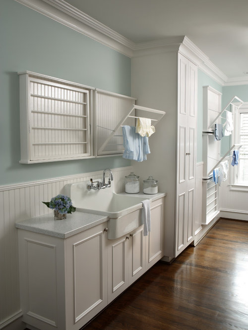 Utility Room Design Ideas saveemail Traditional Laundry Room Idea In Atlanta With A Farmhouse Sink And White Cabinets