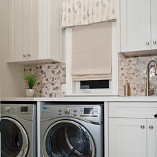 Transitional Laundry Room by Gabriele Pizzale Design Inc.