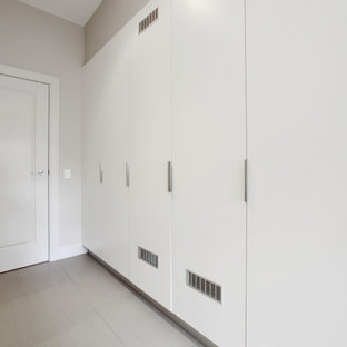 Example of a trendy laundry room design in Melbourne