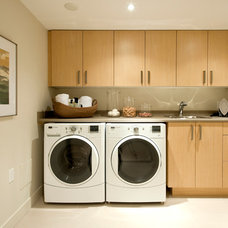 Transitional Laundry Room by Portico Design Group